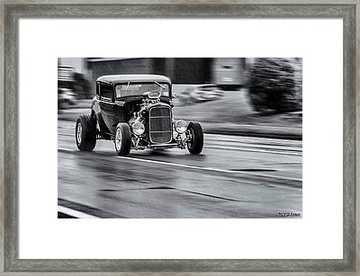 Hemi Powered 1932 Ford 5 Window Coupe Framed Print by Ken Morris