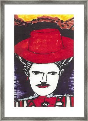 Hemingway In Spain Framed Print