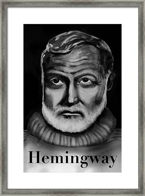 Hemingway Framed Print by Robin Lee