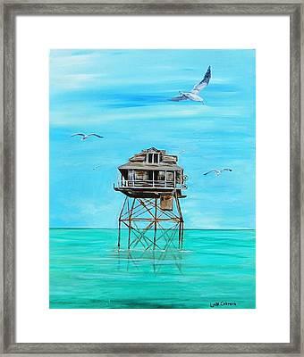 Hemingway Stilt House Framed Print