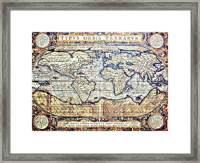 Hemisphere World  Framed Print