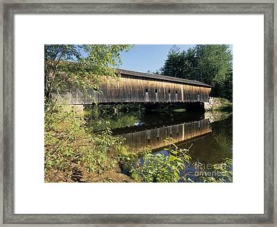 Hemlock Covered Bridge - Fryeburg Maine Usa. Framed Print by Erin Paul Donovan