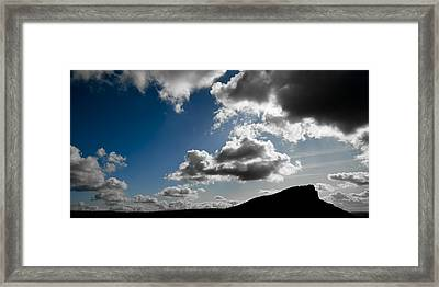 Hen Cloud Framed Print