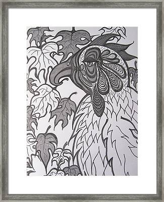 Hen Framed Print by Rosita Larsson