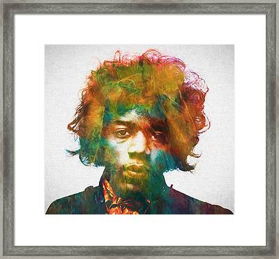 Hendrix Framed Print by Dan Sproul