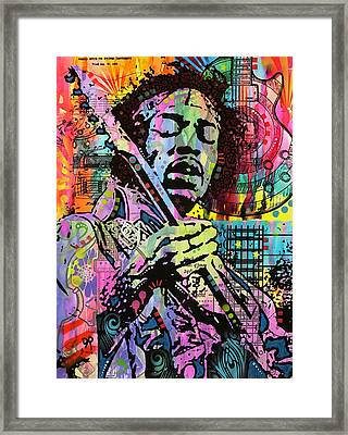 Hendrix History Of Rock Framed Print