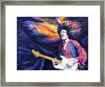 Hendrix Framed Print by Ken Meyer jr