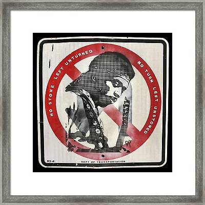 Hendrix U-turn Framed Print
