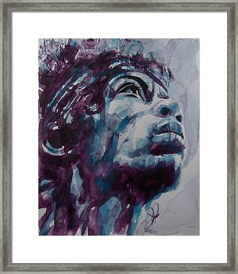 Hendrix Woodstock  Framed Print by Paul Lovering
