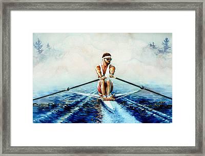 Henley On The Horizon Framed Print by Hanne Lore Koehler