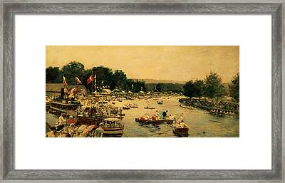 Henley Regatta Framed Print by James Jacques Joseph Tissot