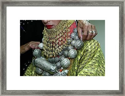 Henna Ceremony  Framed Print by Chen Leopold