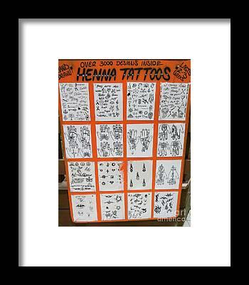 Henna Tattoo Framed Prints