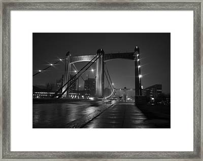 Hennepin Avenue Bridge Framed Print