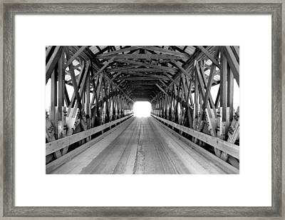 Henniker Covered Bridge Framed Print