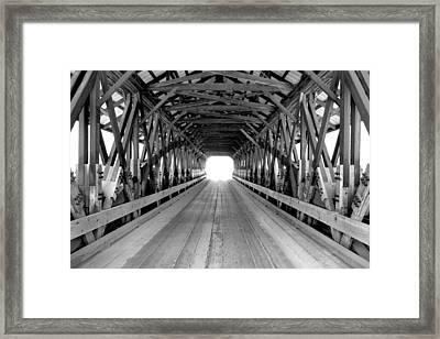 Henniker Covered Bridge Framed Print by Greg Fortier