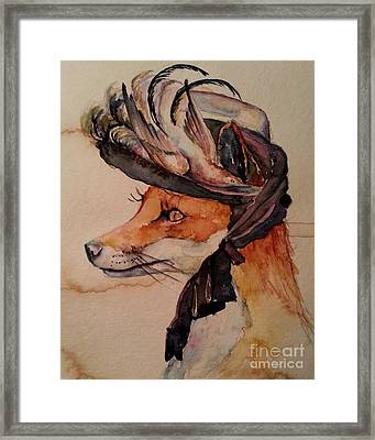 Framed Print featuring the painting Henrietta Fox by Christy  Freeman