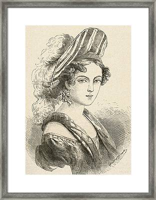 Henriette Sontag, Later Countess Rossi Framed Print by Vintage Design Pics