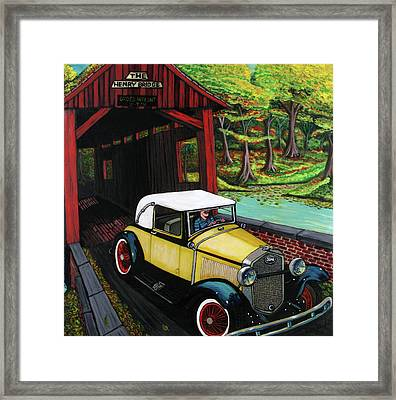 Henry Bridge Framed Print by Bob Crawford