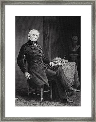 Henry Clay 1777 To 1852. American Framed Print
