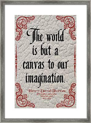 Henry David Thoreau About Imagination Framed Print
