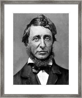 Henry David Thoreau Framed Print by Everett