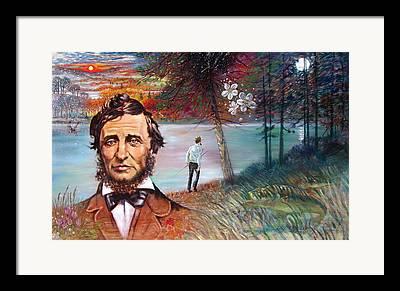 Scenry Of Pond Framed Prints