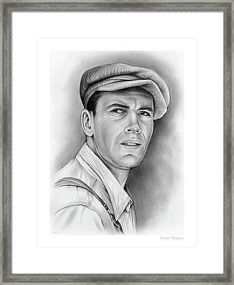 Henry Fonda Framed Print by Greg Joens