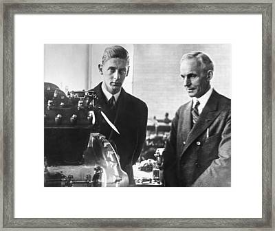 Henry Ford & Prince Nicholas Framed Print by Underwood Archives