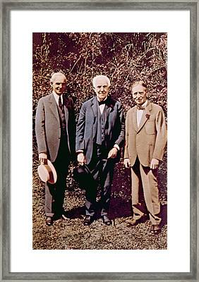Henry Ford, Thomas Alva Edison, Harvey Framed Print by Everett