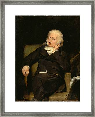 Henry Fuseli Framed Print by George Henry Harlow