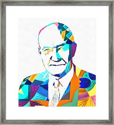Henry Hazlitt Colorful Abstract Framed Print