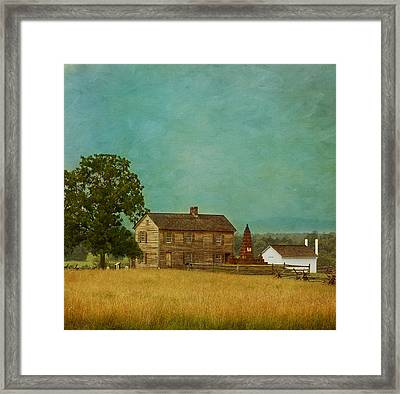 Henry House At Manassas Battlefield Park Framed Print