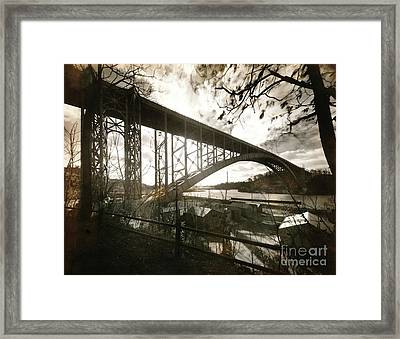 Framed Print featuring the photograph Henry Hudson Bridge, 1936 by Cole Thompson