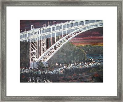 Henry Hudson Bridge Framed Print