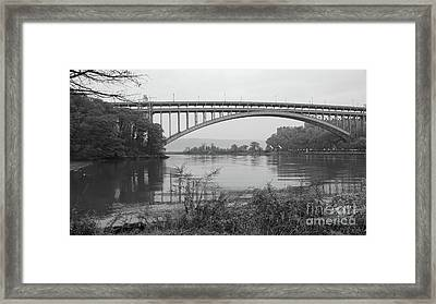 Framed Print featuring the photograph Henry Hudson Bridge  by Cole Thompson