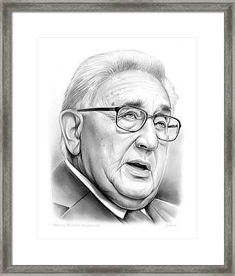 Henry Kissinger Framed Print by Greg Joens