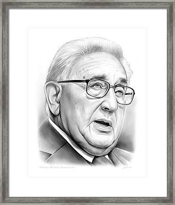 Henry Kissinger Framed Print