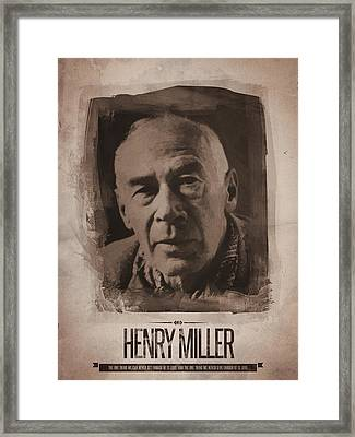 Henry Miller 01 Framed Print by Afterdarkness