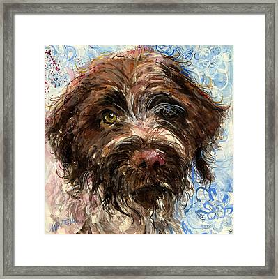 Framed Print featuring the painting Henry by Molly Poole