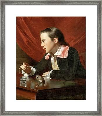 Henry Pelham Boy With A Squirrel Framed Print