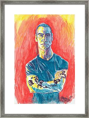 Henry Rollins Framed Print by Brian Child
