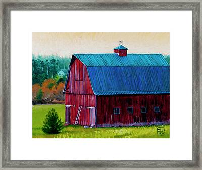 Henry Strong Barn Circa 1928 Framed Print