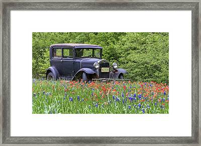 Framed Print featuring the photograph Henry The Vintage Model T Ford Automobile by Robert Bellomy