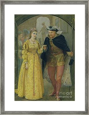 Henry Viii And Anne Boleyn  Framed Print by Arthur Hopkins