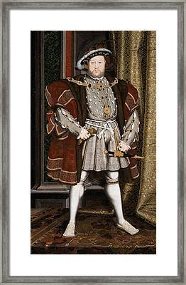 Henry Viii Of England Framed Print by War Is Hell Store