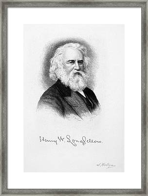 Henry Wadsworth Longfellow Framed Print by Granger