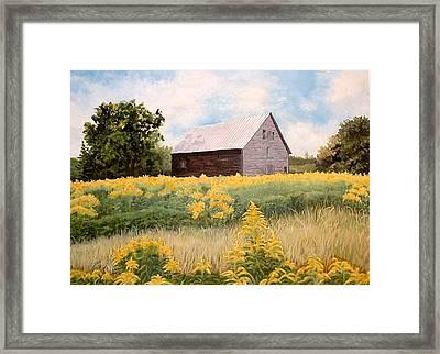 Henry's Barn Framed Print