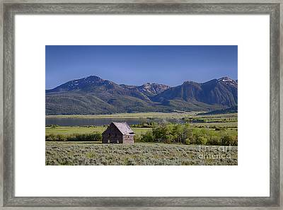 Henry's Lake Cabin Framed Print by Idaho Scenic Images Linda Lantzy