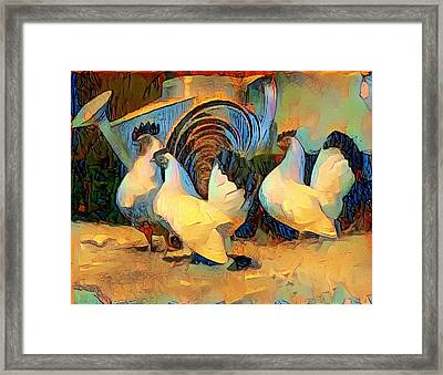 Hens Framed Print by Roger Smith